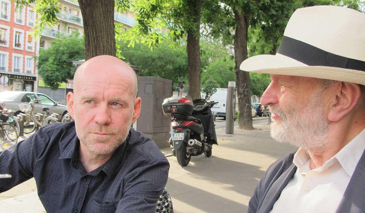 Artur Majka i Ludwik Lewin, Paryż 2016.