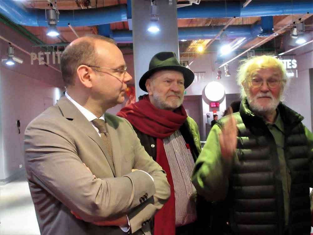 od prawej: Josef Koudelka, Ludwik Lewin, Clément Chéroux , Paryż 2017, fot. Ewa Izabela Nowak